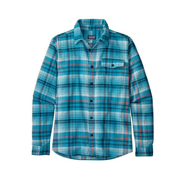 Patagonia Lightweight Fjord Flannel Long Sleeve Shirt (Turf: Break Up Blue)