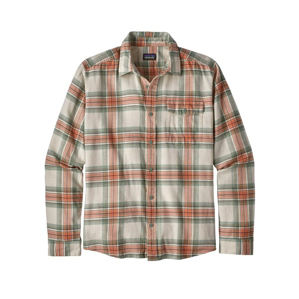 Patagonia Lightweight Fjord Flannel Long Sleeve Shirt (Whyte: Celadon)