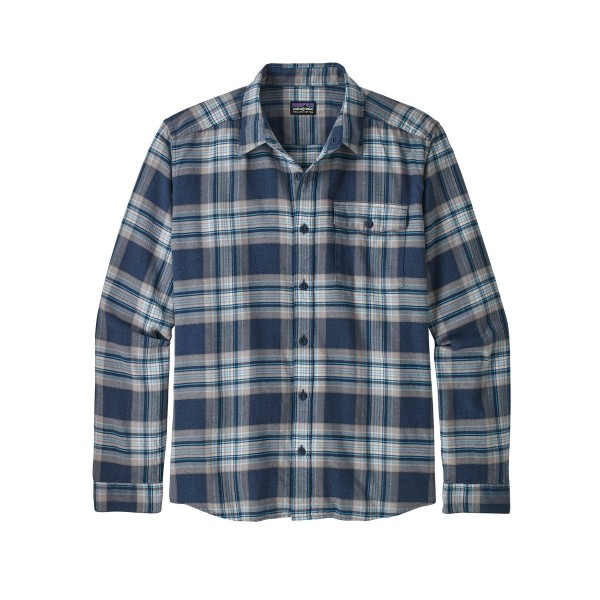 Patagonia Lightweight Fjord Flannel Long Sleeve Shirt (Whyte: Stone Blue)
