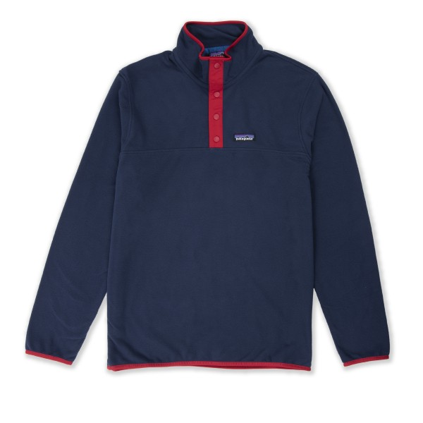 Patagonia Micro D Snap-T Pullover Fleece (New Navy w/Classic Red)