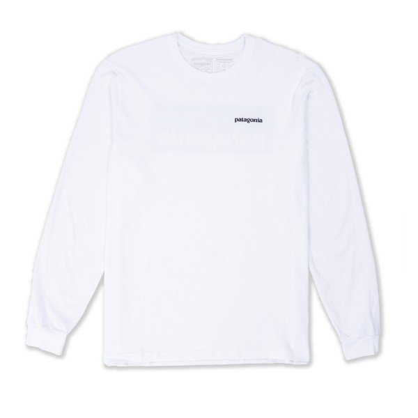 Patagonia P-6 Logo Responsibili-Tee Long Sleeve T-Shirt (White)