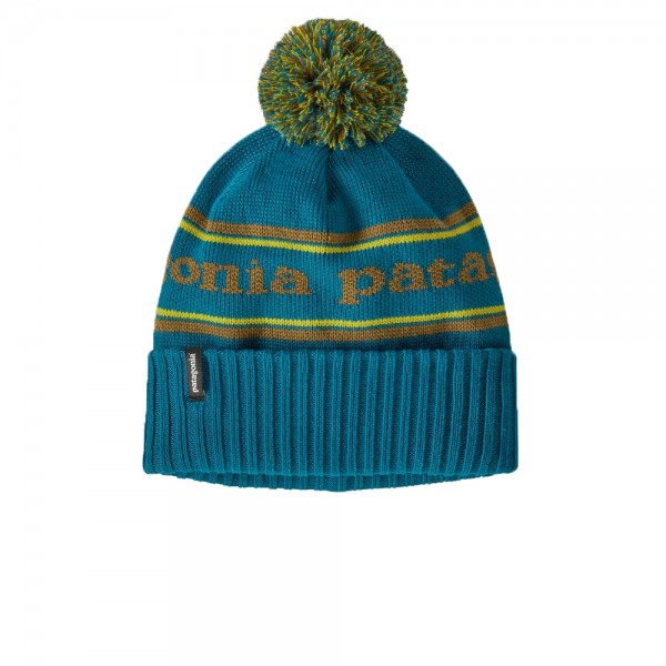 Patagonia Powder Town Beanie (Park Stripe Knit: Crater Blue)