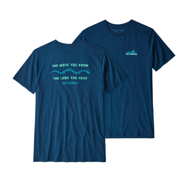 Patagonia The Less You Need Organic T-Shirt (Stone Blue)