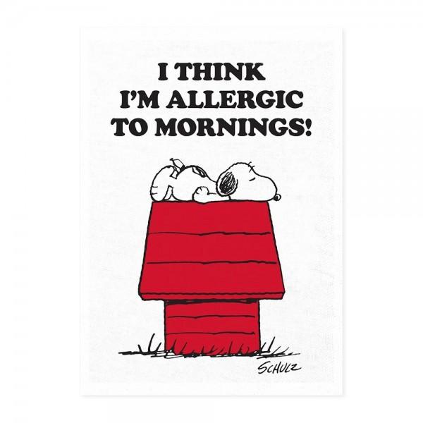 Peanuts Allergic to Mornings Tea Towel