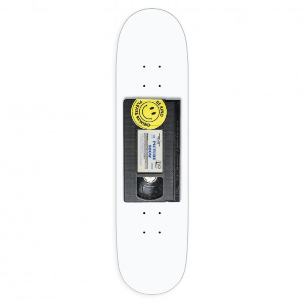 "Picture Show Cassette Skateboard Deck 8.5"" (White)"