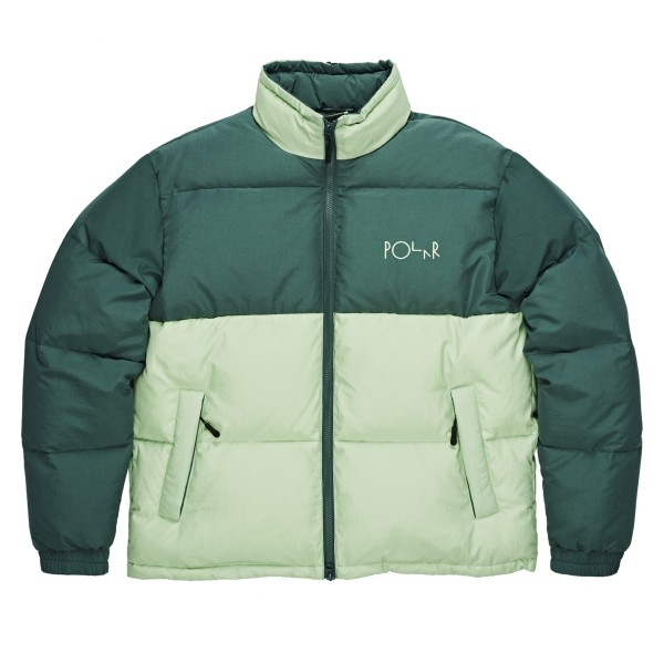 Polar Skate Co. Combo Puffer Jacket (Green/Sea Foam Green)