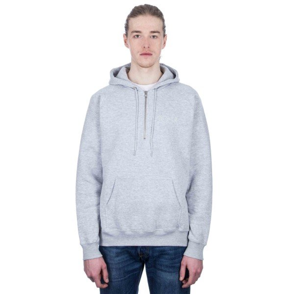 Polar Half Zip Pullover Hooded Sweatshirt (Sports Grey)