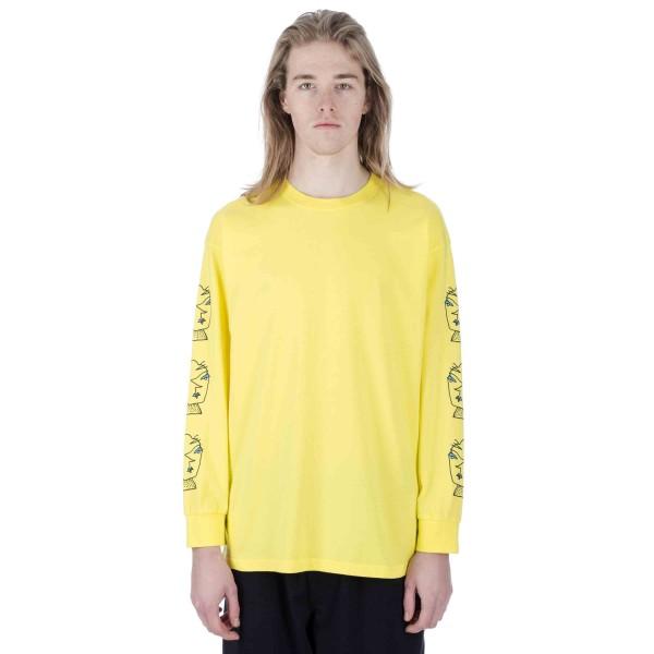 Polar Heads Long Sleeve T-Shirt (Shock Yellow)