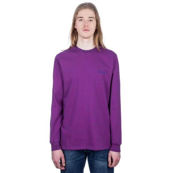 Polar Micro Stripe Long Sleeve T-Shirt (Blue/Fuschia Pink)