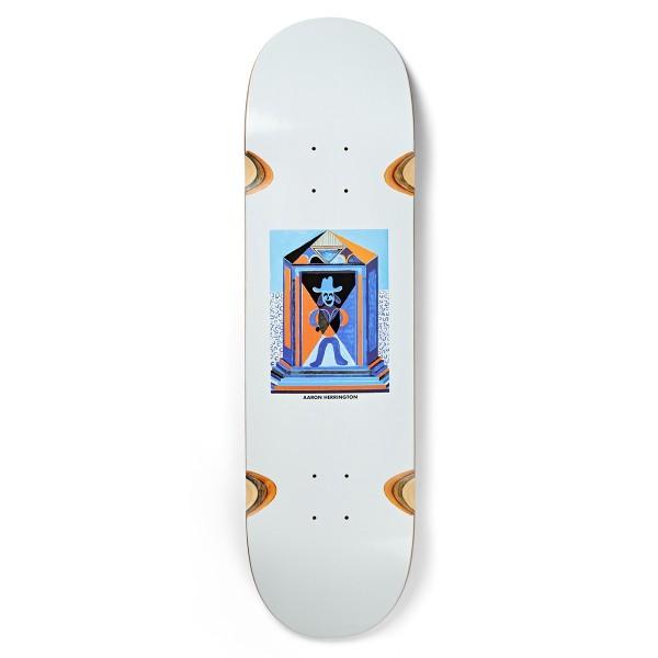 "Polar Skate Co. Aaron Herrington Masuoleum Wheel Wells Skateboard Deck 8.625"" (White)"