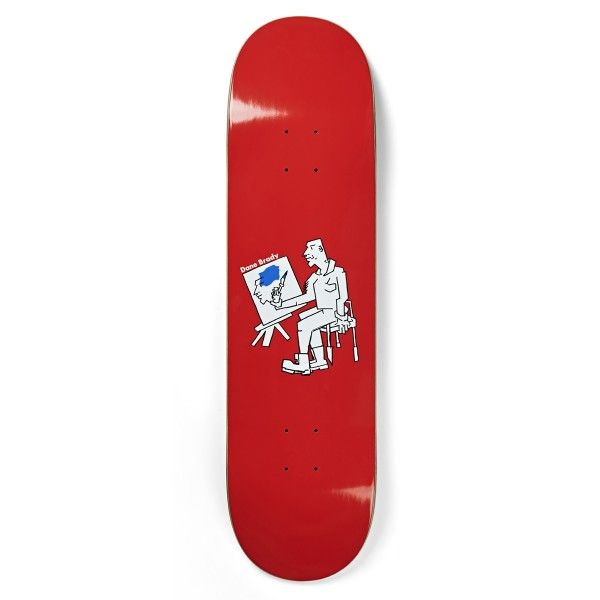 "Polar Skate Co. Dane Brady Painter Skateboard Deck 8.0"" (Red)"