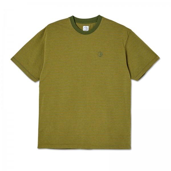 Polar Skate Co. Dizzy Stripe T-Shirt (Army Green)