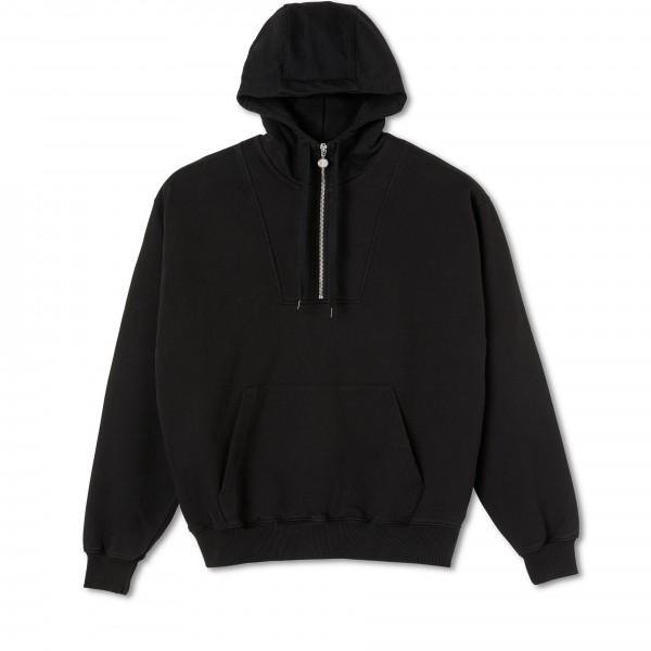 Polar Skate Co. Half Zip Pullover Hooded Sweatshirt (Black)