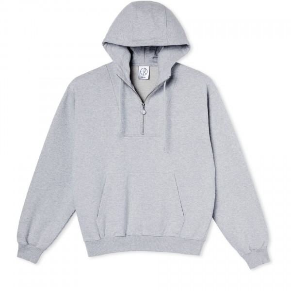 Polar Skate Co. Half Zip Pullover Hooded Sweatshirt (Sports Grey)