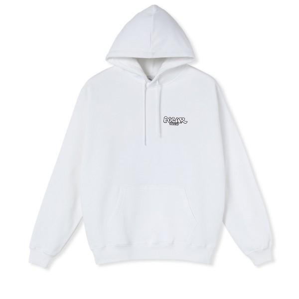 Polar Skate Co. Mt. Fuji Pullover Hooded Sweatshirt (White)