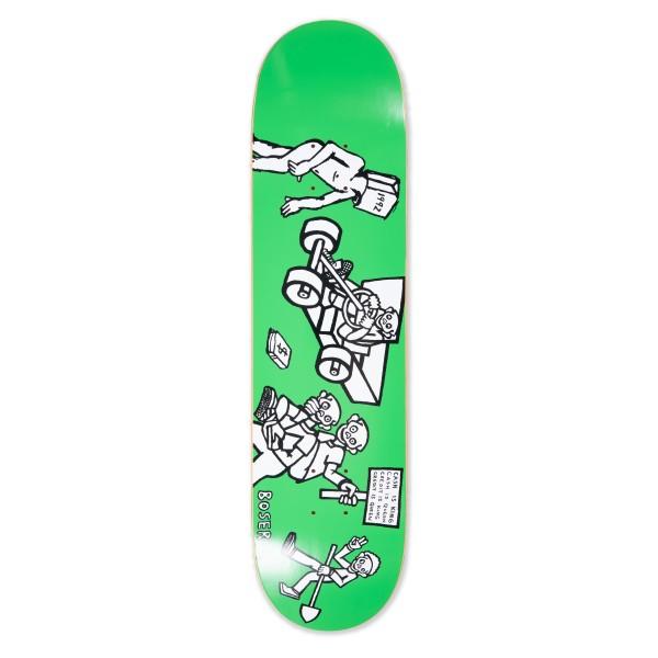 """Polar Skate Co. Nick Boserio Cash is Queen Skateboard Deck 7.875"""" (Green)"""