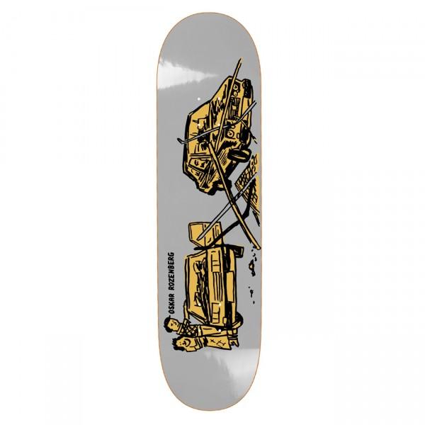 "Polar Skate Co. Oskar Rozenberg Drivers License Skateboard Deck 7.875"" (Grey)"