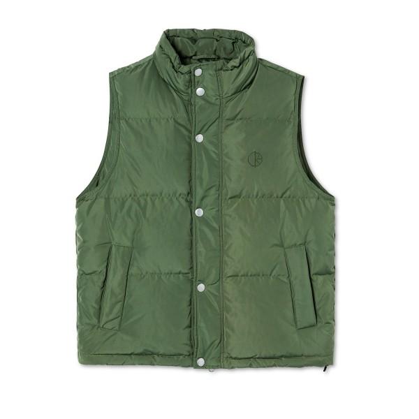 Polar Skate Co. Puffer Vest (Light Olive)