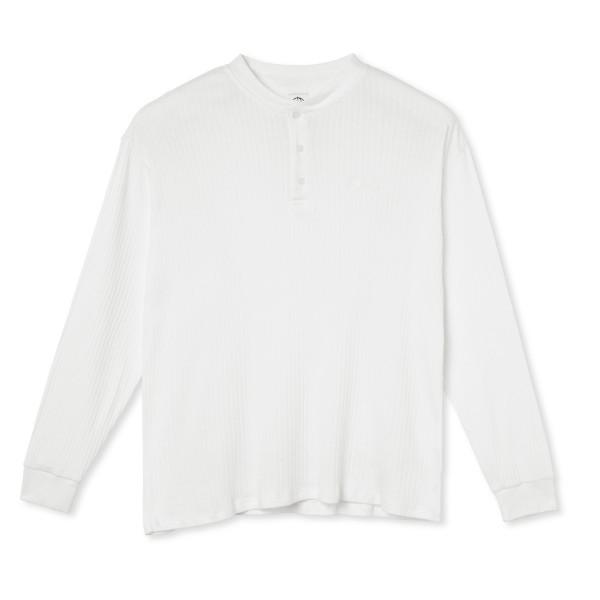 Polar Skate Co. Rib Henley Long Sleeve (Cloud White)