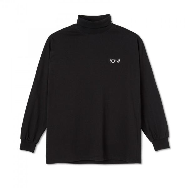Polar Skate Co. Script Long Sleeve Turtleneck (Black)