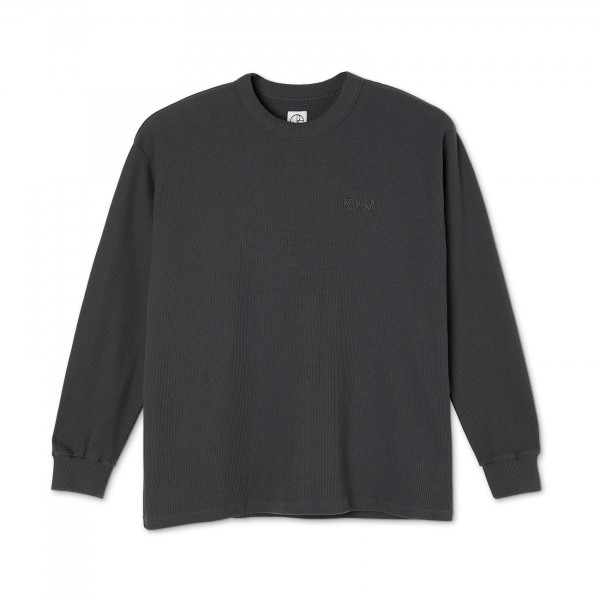 Polar Skate Co. Shin Long Sleeve Waffle T-Shirt (Graphite)