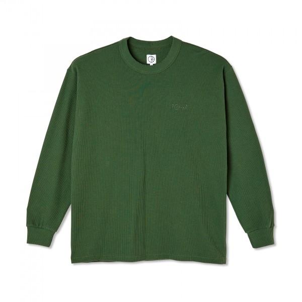 Polar Skate Co. Shin Long Sleeve Waffle T-Shirt (Hunter Green)