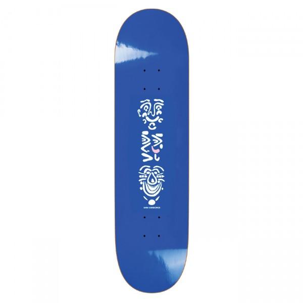 "Polar Skate Co. Shin Sanbongi Faces Skateboard Deck 8.125"" (Blue)"