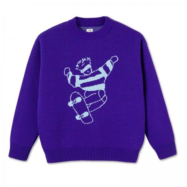 Polar Skate Co. Skate Dude Knit Sweater (Purple)