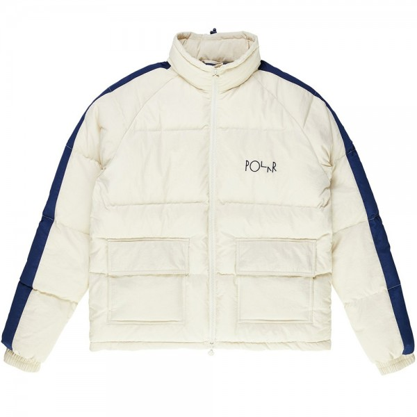 Polar Skate Co. Stripe Puffer (Ivory/Navy)