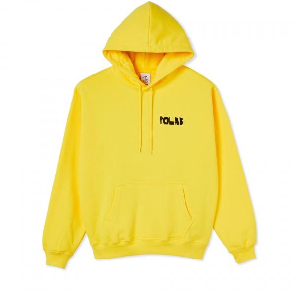 Polar Skate Co. Trippin Pullover Hooded Sweatshirt (Lemon)