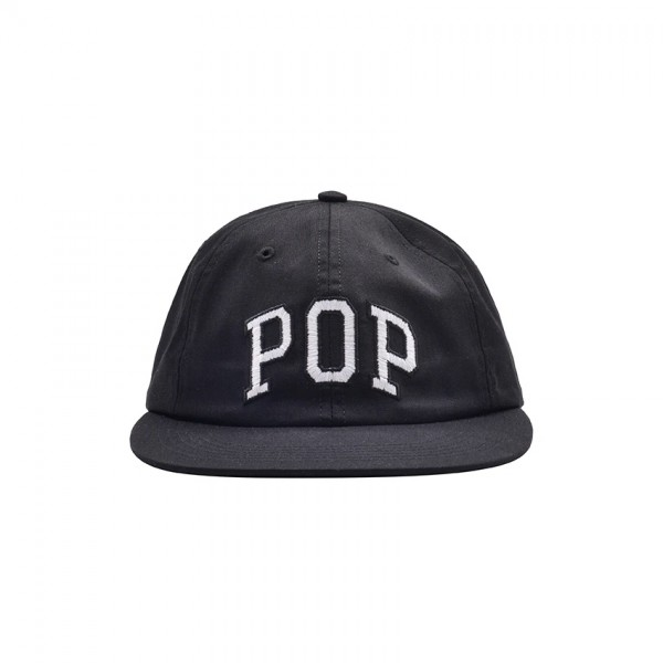 Pop Trading Company Arch 6-Panel Cap (Black)