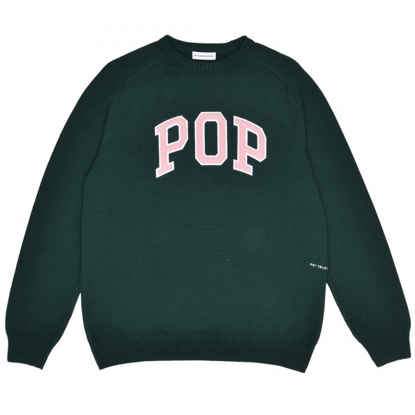 Pop Trading Company Arch Knitted Crew Neck Jumper (Bistro Green)