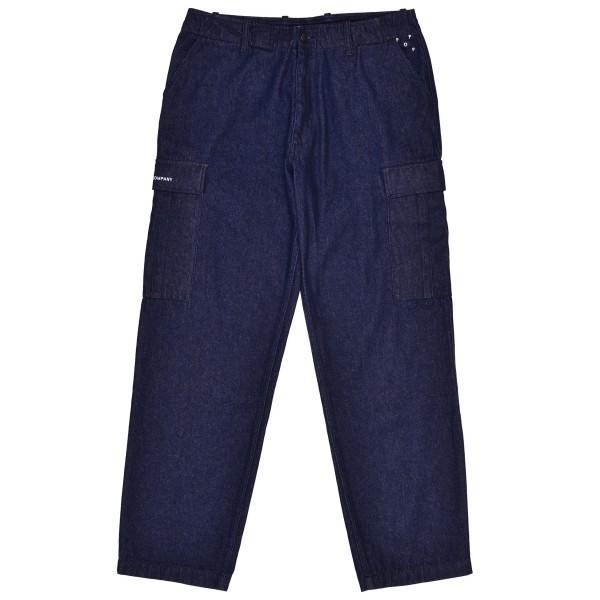 Pop Trading Company Cargo Denim Pants (Rinsed Denim)