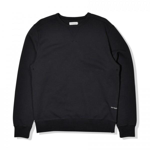 Pop Trading Company Logo Crew Neck Sweatshirt (Black)