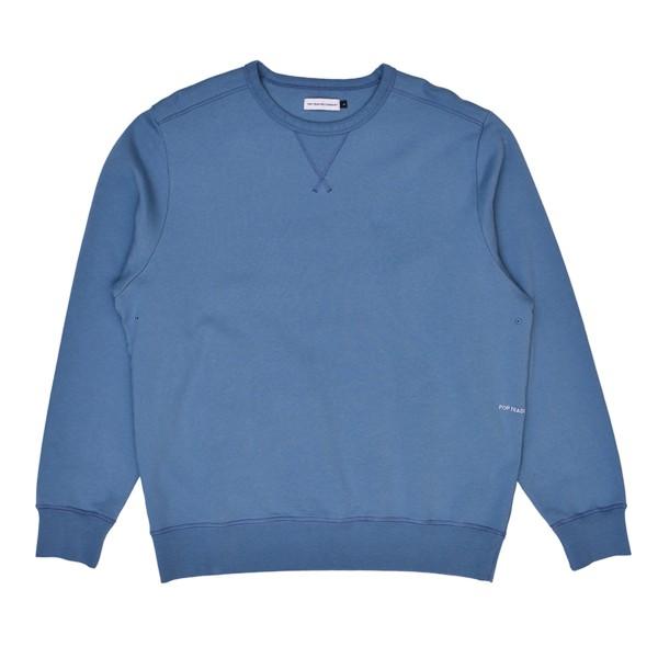 Pop Trading Company Logo Crew Neck Sweatshirt (Blue Shadow)