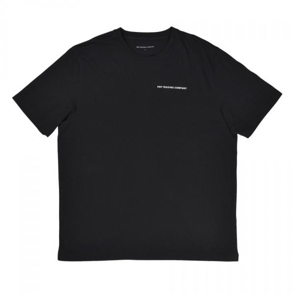 Pop Trading Company Logo T-Shirt (Black/White)