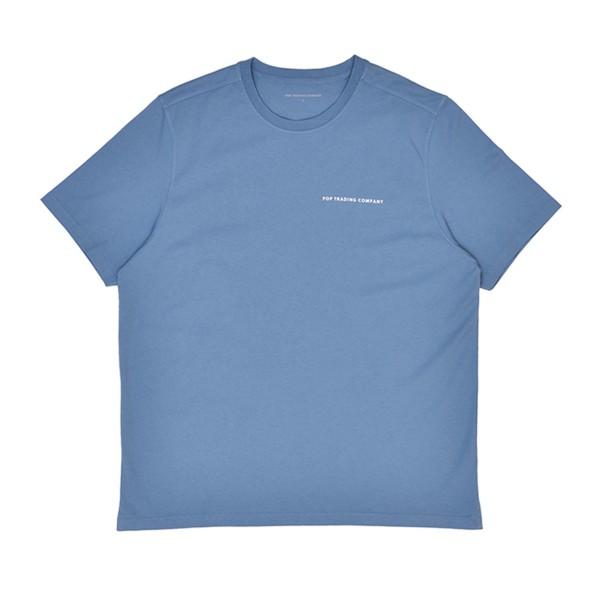 Pop Trading Company Logo T-Shirt (Blue Shadow)