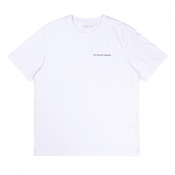 Pop Trading Company Logo T-Shirt (White/Black)