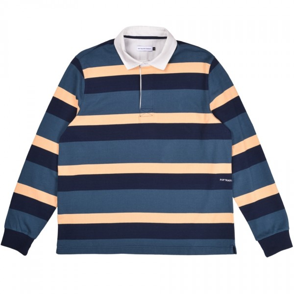 Pop Trading Company Striped Rugby Polo Shirt (Multicolour)