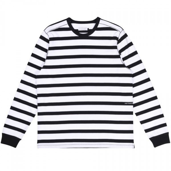Pop Trading Company x Miffy Striped Long Sleeve T-Shirt (Black/White)