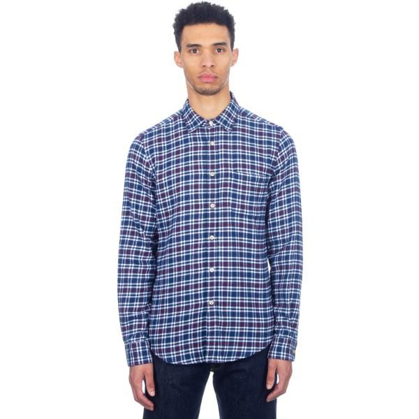 Portuguese Flannel Castanheiro Long Sleeve Shirt (Blue)