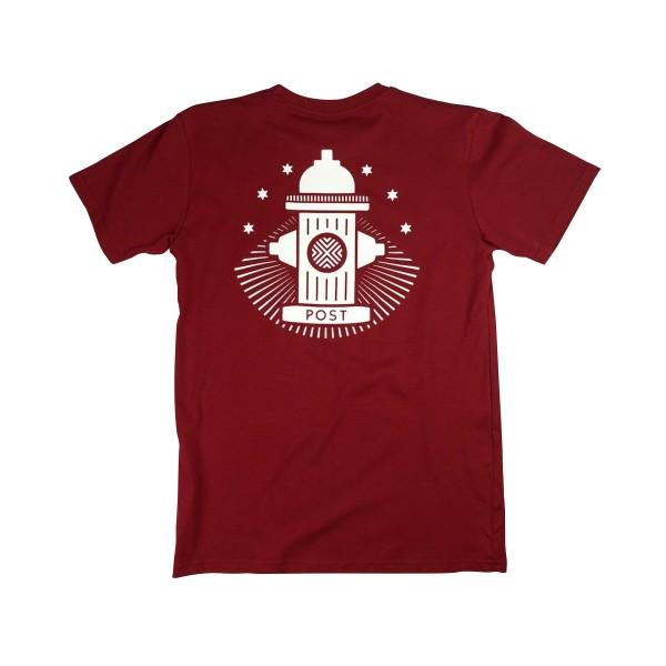 Post Details No Bills Hydrant T-Shirt (Burgundy)