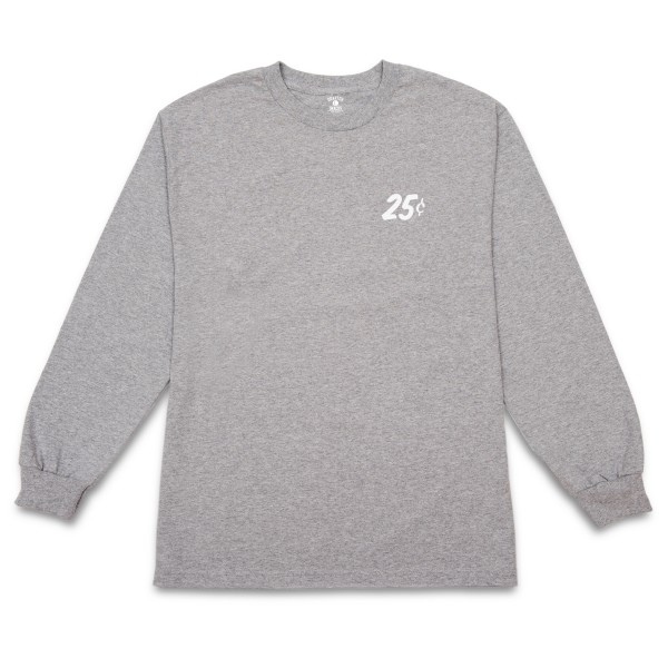 Quartersnacks Classic Snackman Long Sleeve T-Shirt (Heather Grey)