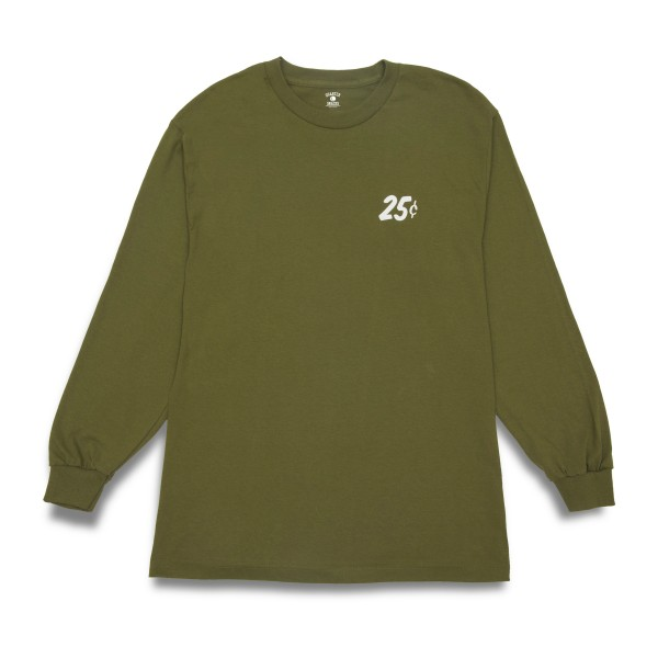 Quartersnacks Classic Snackman Long Sleeve T-Shirt (Military Olive Green)
