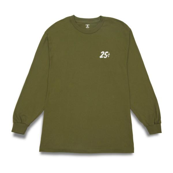 Quartersnacks Classic Snackman Long Sleeve T-Shirt (Military Olive Green)