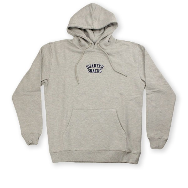Quartersnacks Embroidered Arch Pullover Hooded Sweatshirt (Heather Grey)