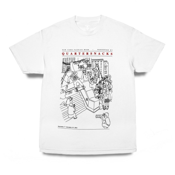 Quartersnacks Presented By T-Shirt (White)