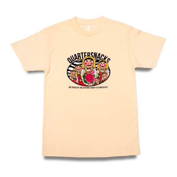 Quartersnacks Russian Doll T-Shirt (Cream)