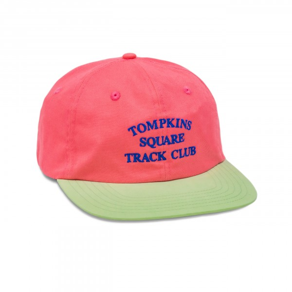 Quartersnacks Track Club Cap (Hot Pink/Light Green)