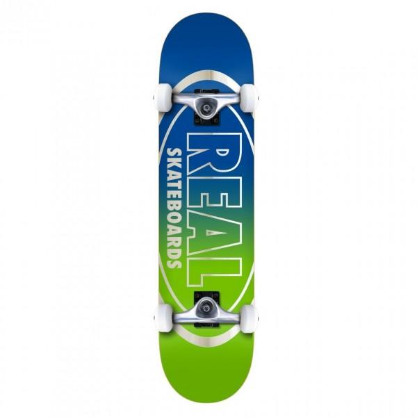 """Real Team Golden Oval Outline MD Complete Skateboard 7.75"""" (Multi)"""